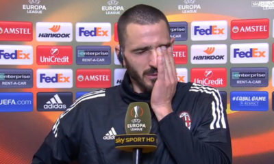 Leonardo Bonucci in lacrime