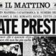 Titolo giornale fate presto Terremoto 1980