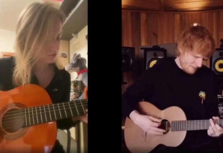 Alba D'Aniello ed Ed Sheeran