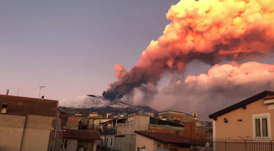 Eruzione Etna 16 febbraio