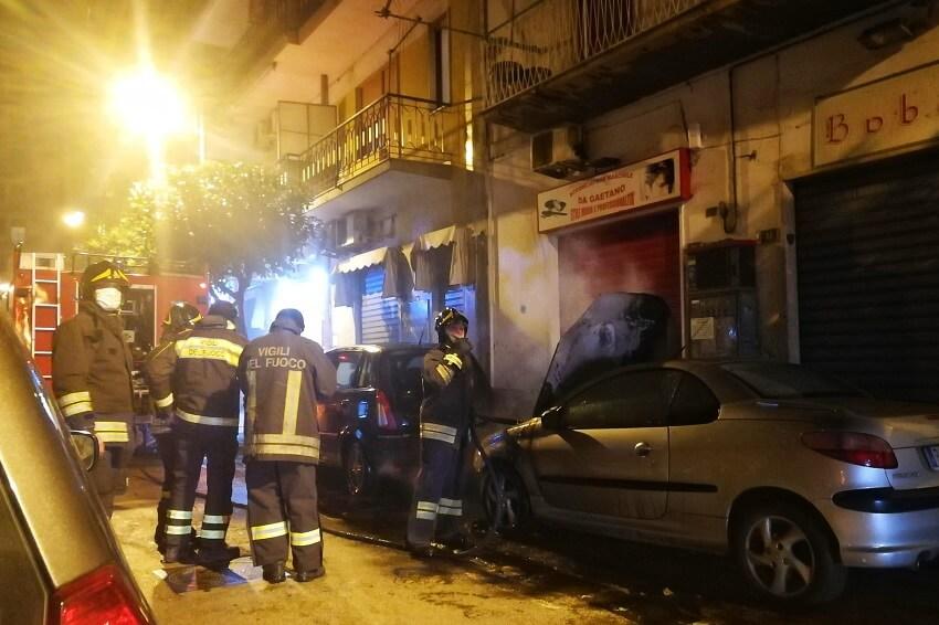 Incendio Auto via Cucci Nocera