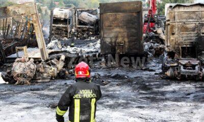 Incendio Arcella Ba.Co. Trans
